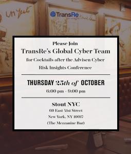 TransRe cocktails after conference banner